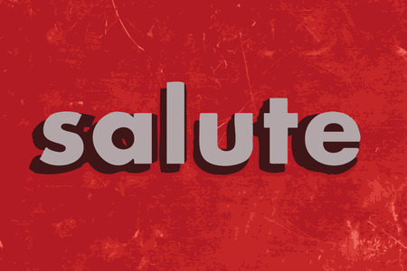 salute: salute vector word on red concrete wall Illustration
