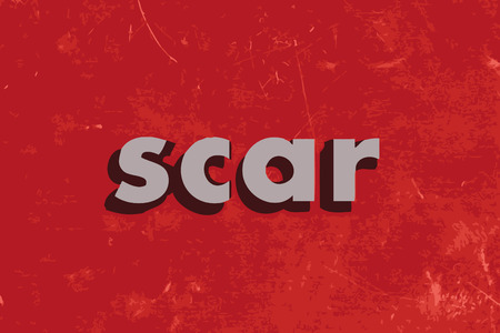 scar: scar vector word on red concrete wall