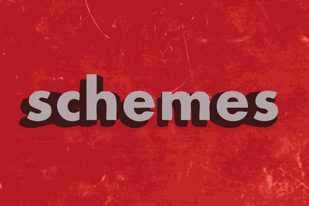 schemes: schemes vector word on red concrete wall