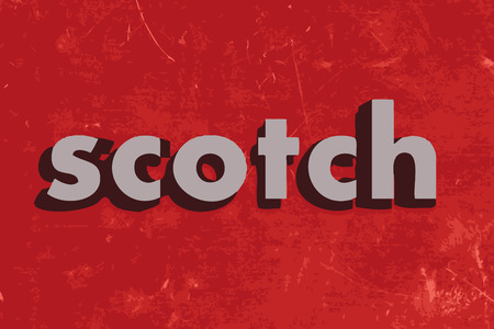 scotch: scotch vector word on red concrete wall