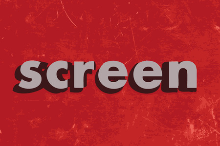 screen: screen vector word on red concrete wall