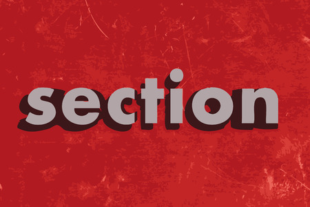 the section: section vector word on red concrete wall Illustration