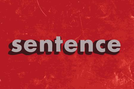 oracion: palabras Frase vector en rojo muro de hormig�n