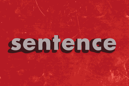 sentence: sentence vector word on red concrete wall