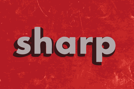 sharp: sharp vector word on red concrete wall Illustration