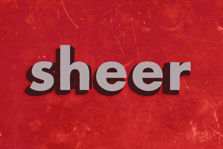 sheer: sheer vector word on red concrete wall