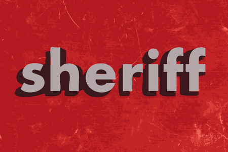 sheriff: sheriff vector word on red concrete wall