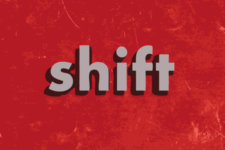 shift vector word on red concrete wall
