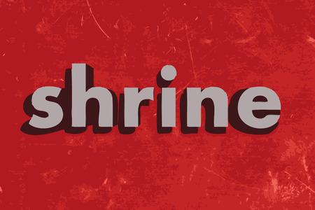 shrine: shrine vector word on red concrete wall