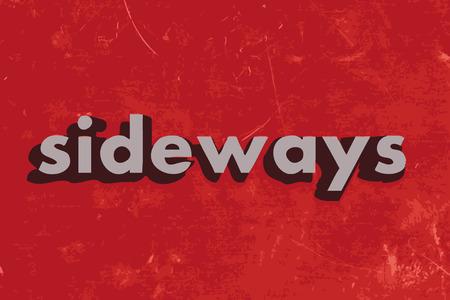 sideways: sideways vector word on red concrete wall Illustration
