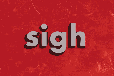 sigh vector word on red concrete wall