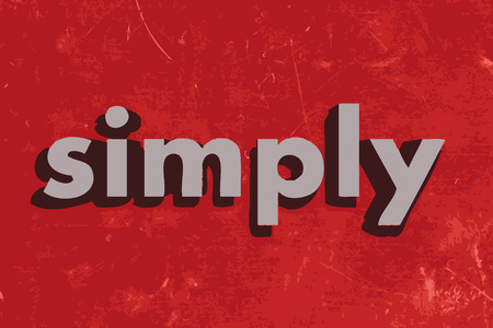 simply: simply vector word on red concrete wall