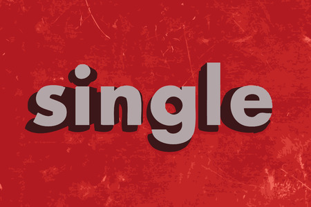 single word: single vector word on red concrete wall