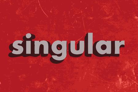 singular: singular vector word on red concrete wall Illustration