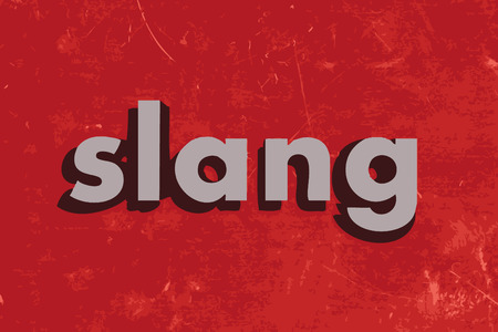 slang: slang vector word on red concrete wall