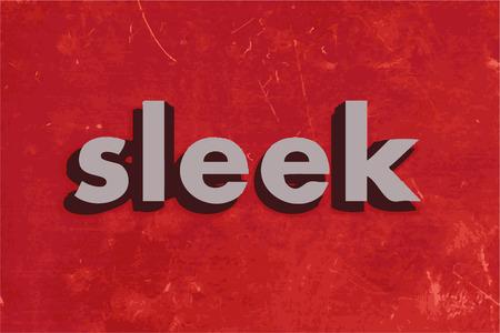 sleek: sleek vector word on red concrete wall