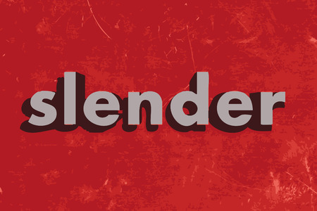 is slender: slender vector word on red concrete wall
