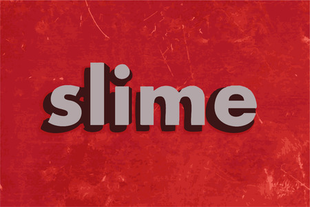 slime: slime vector word on red concrete wall Illustration