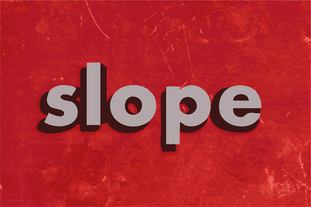 the slope: slope vector word on red concrete wall