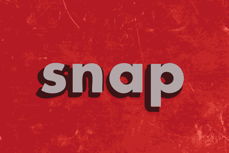 snaps: snap vector word on red concrete wall