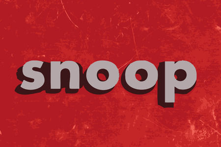 snoop: snoop vector word on red concrete wall Illustration