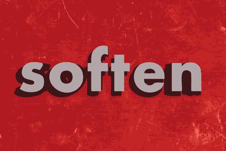 soften: soften vector word on red concrete wall Illustration