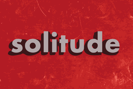 solitude: solitude vector word on red concrete wall Illustration