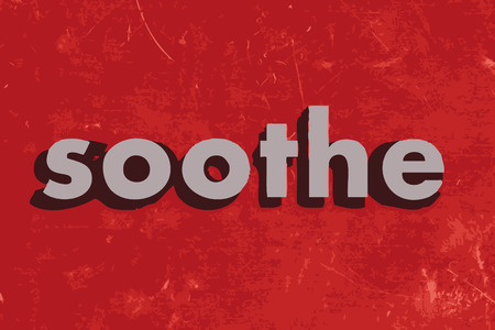 soothe: soothe vector word on red concrete wall