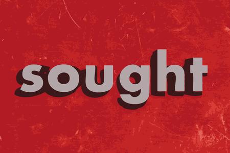 Palabra vector buscado en rojo muro de hormigón Foto de archivo - 37437921