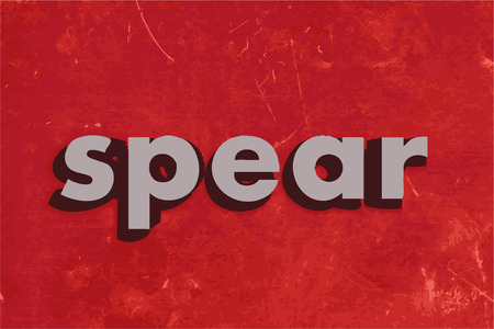 spear: spear vector word on red concrete wall Illustration