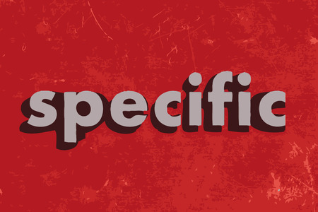 specific: specific vector word on red concrete wall