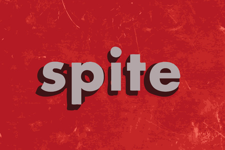 spite: spite vector word on red concrete wall
