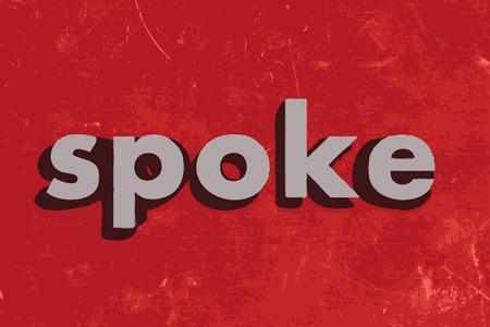 spoke: spoke vector word on red concrete wall Illustration