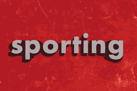 sporting: sporting vector word on red concrete wall