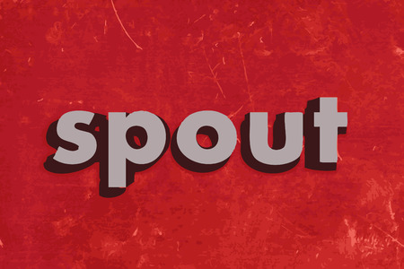 spout: spout vector word on red concrete wall