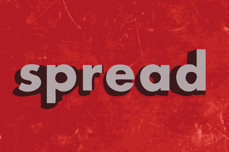 spread the word: spread vector word on red concrete wall