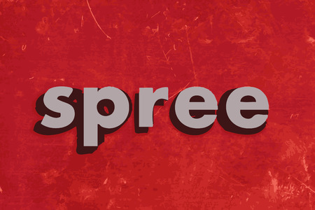 spree vector word on red concrete wall