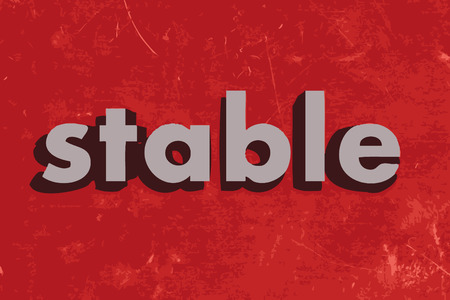 stable: stable vector word on red concrete wall