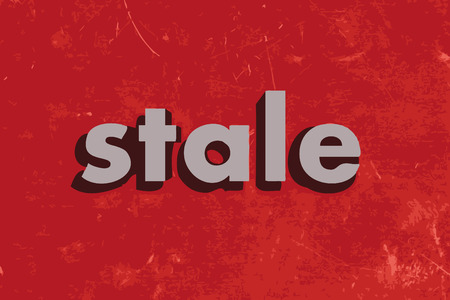 stale: stale vector word on red concrete wall
