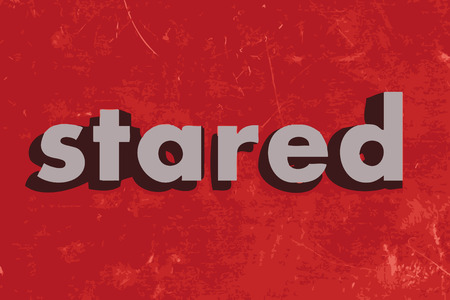 stared: stared vector word on red concrete wall Illustration