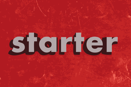starter vector word on red concrete wall Illustration