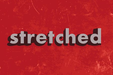stretched: stretched vector word on red concrete wall