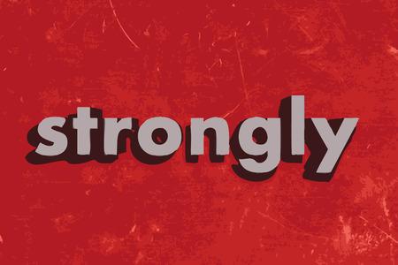 stark: stark vektor wort auf rotem Betonwand