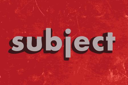 soumis: objet mot de vecteur sur le mur de b�ton rouge