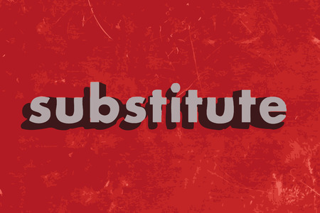substitute: substitute vector word on red concrete wall Illustration