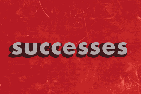 successes: successes vector word on red concrete wall