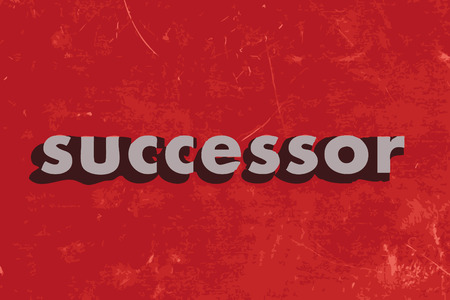 successor: successor vector word on red concrete wall