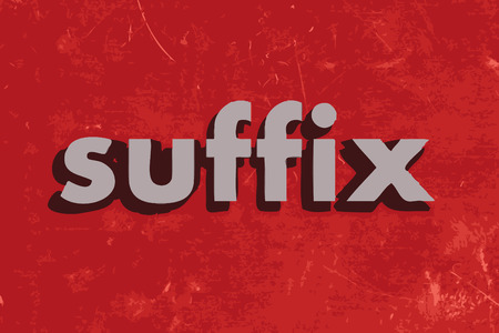 suffix: suffix vector word on red concrete wall