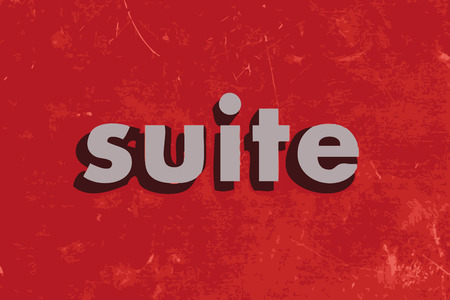 suite: suite vector word on red concrete wall