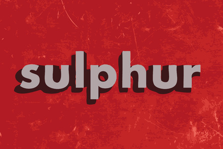 sulphur vector word on red concrete wall Illustration